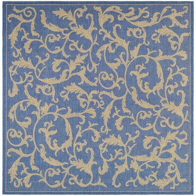 Short Persian Blue Area Rug Rug Size: Square 67