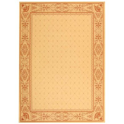 Welby Natural / Terra Outdoor Area Rug Rug Size: 6'7