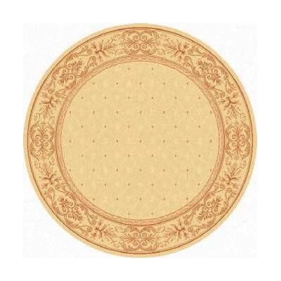 Short Natural / Terra Outdoor Area Rug Rug Size: Round 53