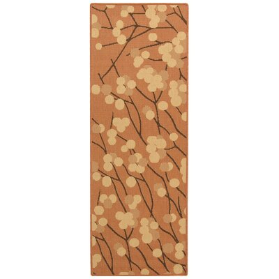 Short Terra Woven Natural / Brown Contemporary Rug Rug Size: Runner 24 x 67