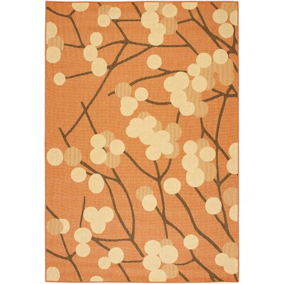 Short Terra Woven Natural / Brown Contemporary Rug Rug Size: Rectangle 4 x 57