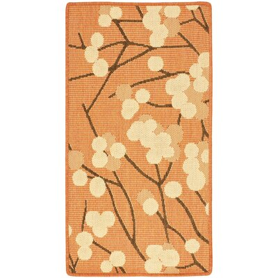 Short Terra Woven Natural / Brown Contemporary Rug Rug Size: Rectangle 2 x 37