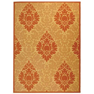 Short Natural/Terracottal Outdoor Area Rug Rug Size: Rectangle 53 x 77