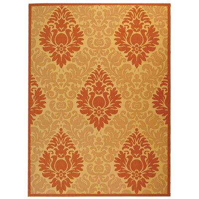 Short Natural/Terracottal Outdoor Area Rug Rug Size: Rectangle 710 x 11