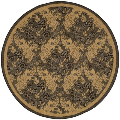 Welby Black Outdoor Area Rug Rug Size: Round 67
