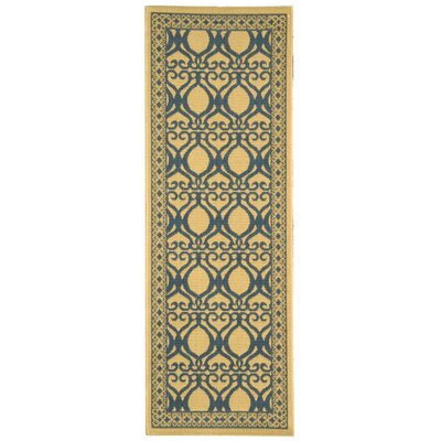 Short Natural & Olive Outdoor aREA Rug Rug Size: Runner 24 x 67