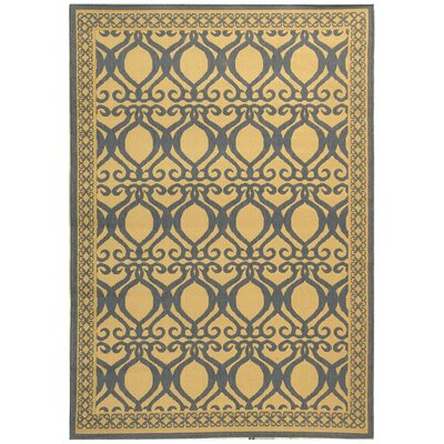 Short Natural & Olive Outdoor aREA Rug Rug Size: Rectangle 53 x 77