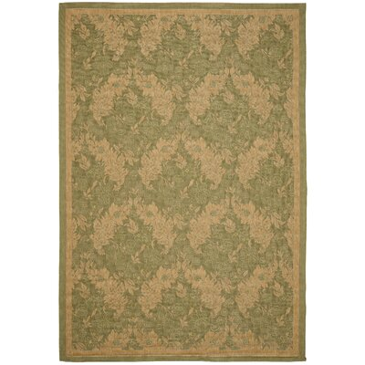 Short Green Outdoor Rug Rug Size: Rectangle 8' x 11'2
