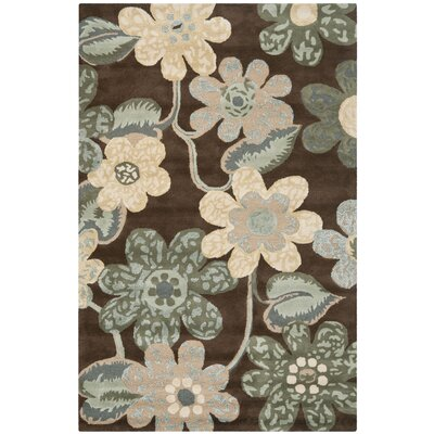 Thomas Brown Area Rug Rug Size: 4 x 6