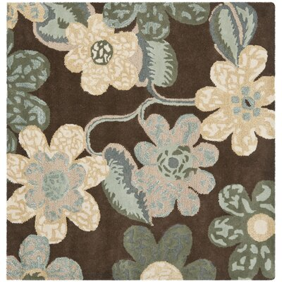 Mccullough Brown Area Rug Rug Size: Square 5