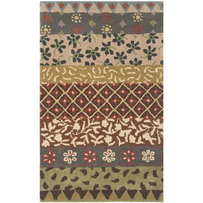 Mccullough Ivory Area Rug Rug Size: 4 x 6