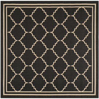 Welby Black/Creme Outdoor Area Rug Rug Size: Square 67