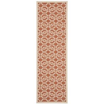 Welby Terracotta/Beige Outdoor Area Rug Rug Size: Runner 27 x 82