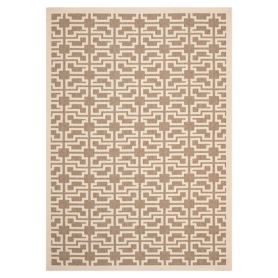 Short Mocha/Beige Outdoor Area Rug Rug Size: Rectangle 53 x 77