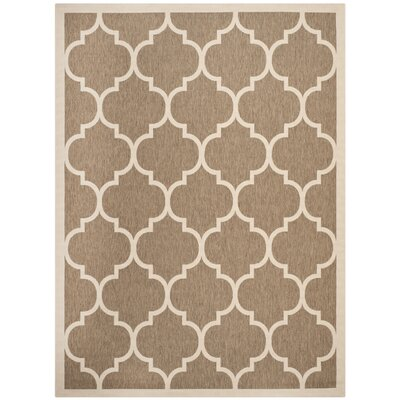 Short Brown/Bone Outdoor Rug Rug Size: 9 x 12
