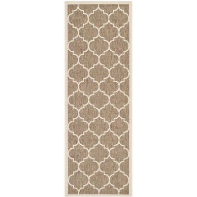 Welby Brown/Bone Outdoor Rug Rug Size: Runner 23 x 10