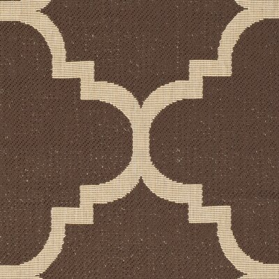 Short Dark Brown Outdoor Area Rug Rug Size: Rectangle 2 x 37