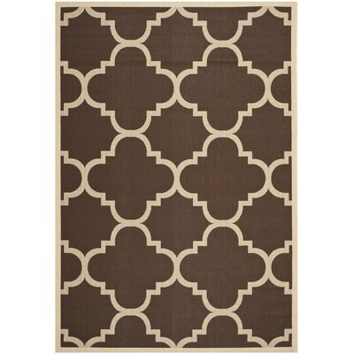 Welby Dark Brown Outdoor Rug Rug Size: Runner 23 x 67