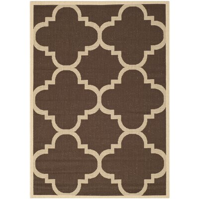 Short Dark Brown Outdoor Area Rug Rug Size: Rectangle 9 x 12