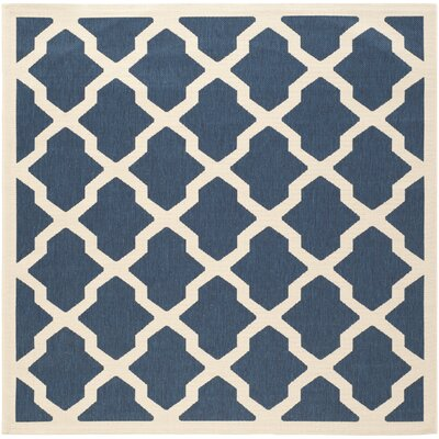 Welby Navy & Beige Outdoor Area Rug Rug Size: Square 710