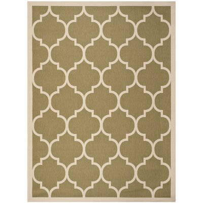Short Green/Beige Indoor/Outdoor Area Rug Rug Size: Rectangle 8 x 11