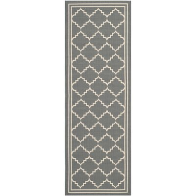 Welby Grey/Beige Outdoor Rug Rug Size: Runner 23 x 10