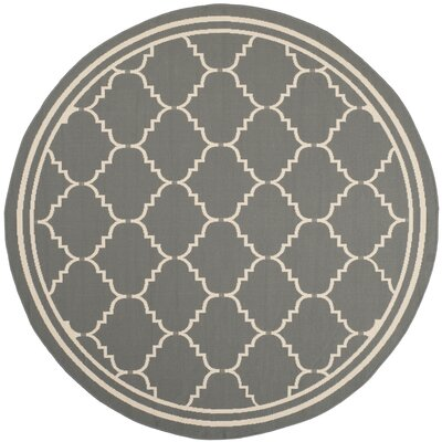 Short Gray/Ivory Indoor/Outdoor Area Rug Rug Size: Rectangle 67 x 96