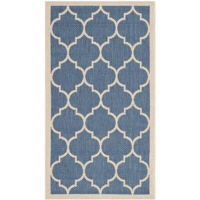 Welby Blue/Beige Outdoor Area Rug Rug Size: 2 x 37