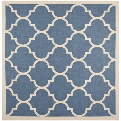 Welby Blue/Beige Outdoor Area Rug Rug Size: Square 4