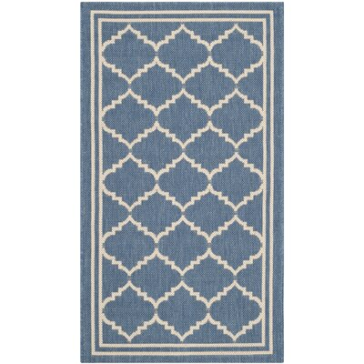 Short Blue Indoor/Outdoor Area Rug Rug Size: Rectangle 2 x 37
