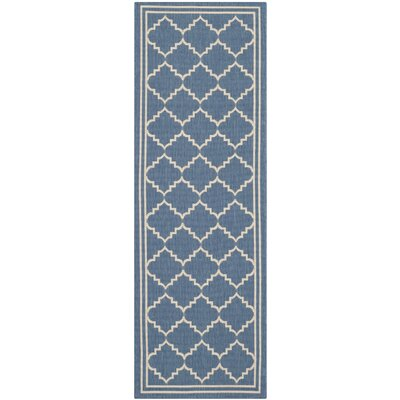 Short Blue Indoor/Outdoor Area Rug Rug Size: Runner 23 x 10