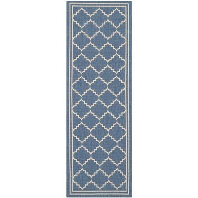 Welby Blue/Beige Outdoor Area Rug Rug Size: Runner 23 x 10