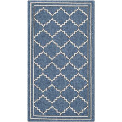 Short Blue Indoor/Outdoor Area Rug Rug Size: Rectangle 4 x 57
