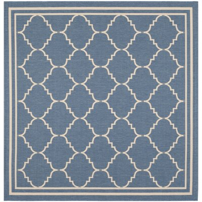 Short Blue Indoor/Outdoor Area Rug Rug Size: Square 67