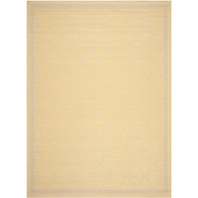 Short Yellow/Beige Indoor/Outdoor Rug Rug Size: Rectangle 8 x 11