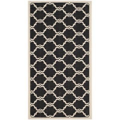 Welby Black/Beige Indoor/Outdoor Rug Rug Size: 2 x 37