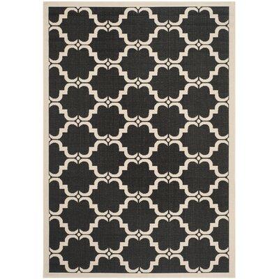 Welby Black/Beige Indoor/Outdoor Rug Rug Size: 67 x 96