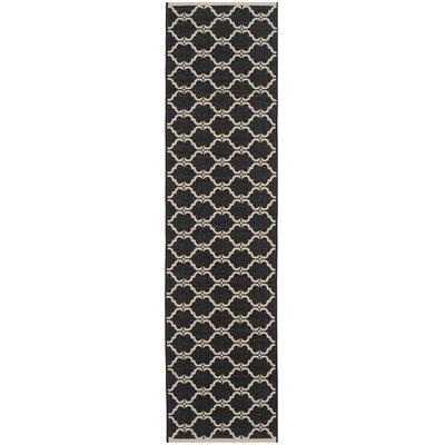 Welby Black/Beige Indoor/Outdoor Rug Rug Size: Runner 23 x 8