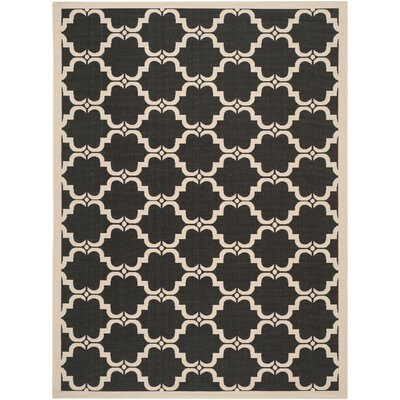 Welby Black/Beige Indoor/Outdoor Rug Rug Size: 8 x 11