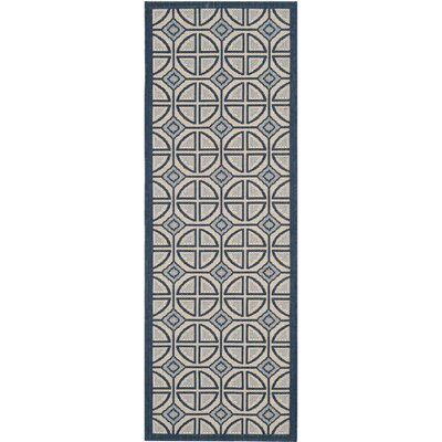 Short Beige Indoor/Outdoor Rug Rug Size: Runner 23 x 67