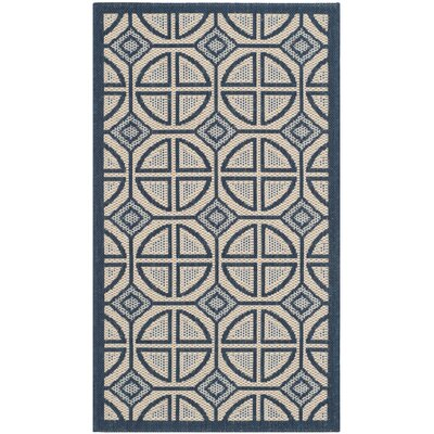Short Beige Indoor/Outdoor Rug Rug Size: Rectangle 2 x 37