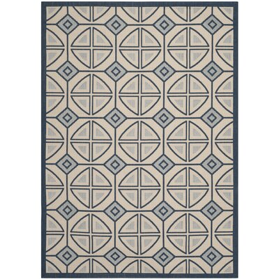 Short Beige Indoor/Outdoor Rug Rug Size: Rectangle 67 x 96