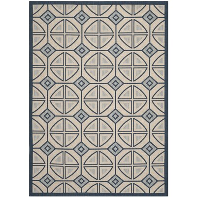 Short Beige Indoor/Outdoor Rug Rug Size: Rectangle 8 x 11
