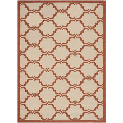 Welby Beige/Terracotta Indoor/Outdoor Rug Rug Size: Square 5
