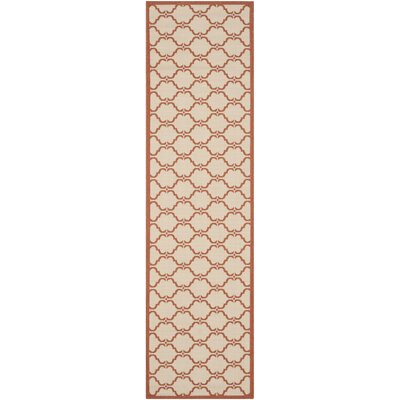 Welby Beige/Terracotta Indoor/Outdoor Rug Rug Size: Runner 23 x 8