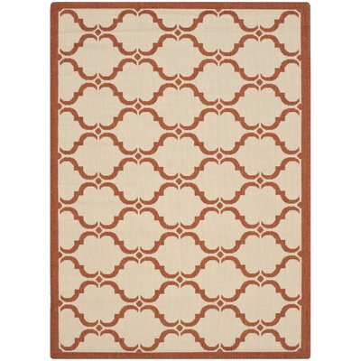 Welby Beige/Terracotta Indoor/Outdoor Rug Rug Size: 4 x 57