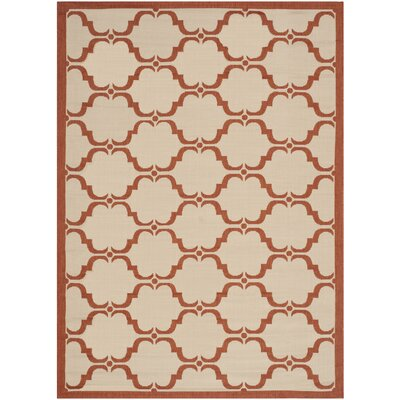 Welby Beige/Terracotta Indoor/Outdoor Rug Rug Size: 53 x 77