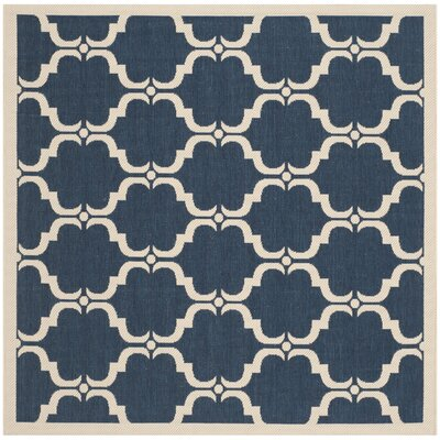 Welby Navy/Beige Indoor/Outdoor Rug Rug Size: Square 67