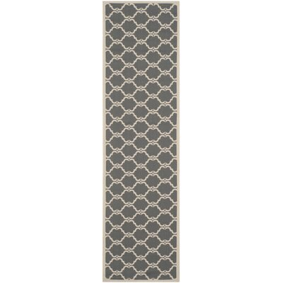 Welby Anthracite/Beige Geometric Contemporary Rug Rug Size: Runner 27 x 5