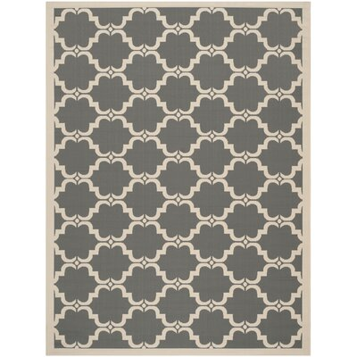 Welby Anthracite/Beige Geometric Contemporary Rug Rug Size: 53 x 77